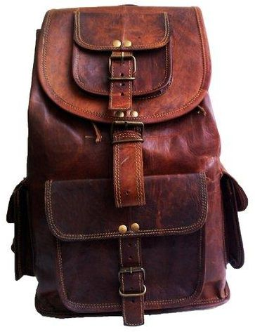 14 inch Handmadeleather with three pocket   goat leather  43b04a98b98ed