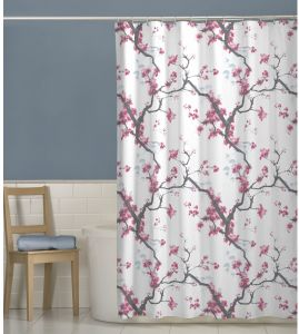 MAYTEX Cherrywood Blossom Fabric Shower Curtain Multi Floral 70 Inches X 72