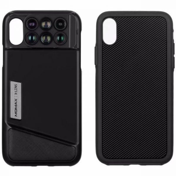 the best attitude db4cc adcc9 MOMAX X -Lens Case for iPhoneX 6 in 1 Dual Optics Lens Kit 2X Telephoto  Wide-angle 10X /20X Macro for iPhone X