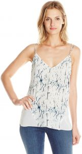 e71c2f204dbde Dolce Vita Women s Washed Silk Shattered Ice Printed Bo Cami Tank Top