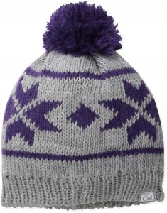 20ff8338599 Coal The Britta Snowflake Pattern Beanie Hat with Pom Pom