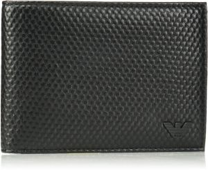fe137941a728 Armani Jeans Men s Bifold Wallet Embossed With Minimal Logo