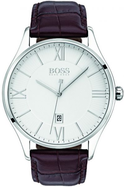 73919bb2f Hugo Boss Men's White Dial Leather Band Watch - 1513555