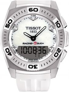 214e9e95cced Tissot Men s Mother of Pearl Dial Silicone Band Watch - T002.520.17.111.00