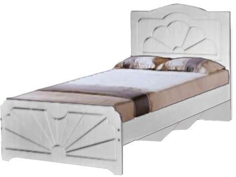 Galaxy Design Wooden Bed Single 90x190 cm White with Head Board GBF ...