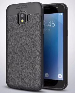 online store a13c6 34aa4 samsung galaxy grand prime pro 2018 Lichi Patterm Slim Shockproof Silicone  TPU Case Cover,BLACK