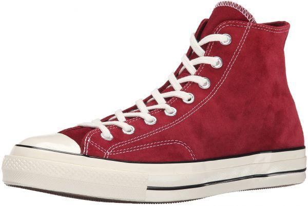 103a40825e01 Converse Men s Chuck Taylor All Star 70 Hi Suede Red Dahlia Black ...