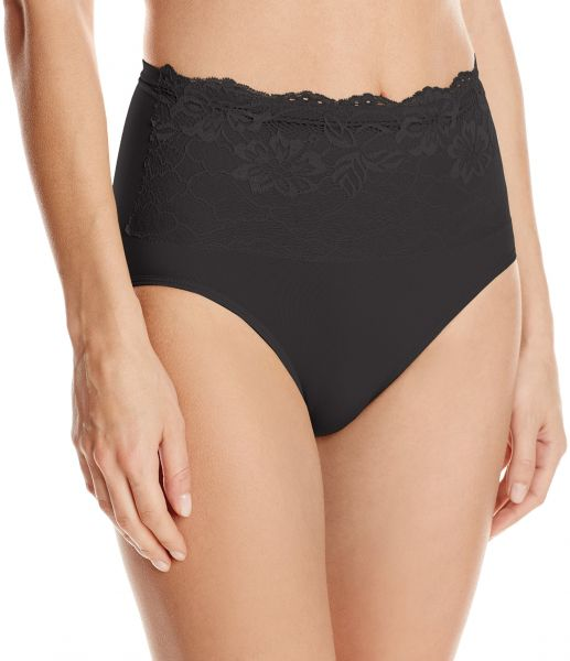 46478e74961f6 Ahh By Rhonda Shear Women s Seamless Brief with Lace Overlay
