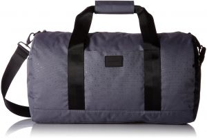 Armani Exchange Men s Light Weight Dobby Nylon All Over Logo Duffle  Weekender Bag cb61873e7e275