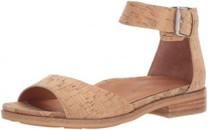 7b16bc6299 Gentle Souls by Kenneth Cole Women's Gracey Flat Sandal with Ankle Strap  Sandal, Natural Cork, 9 Medium US