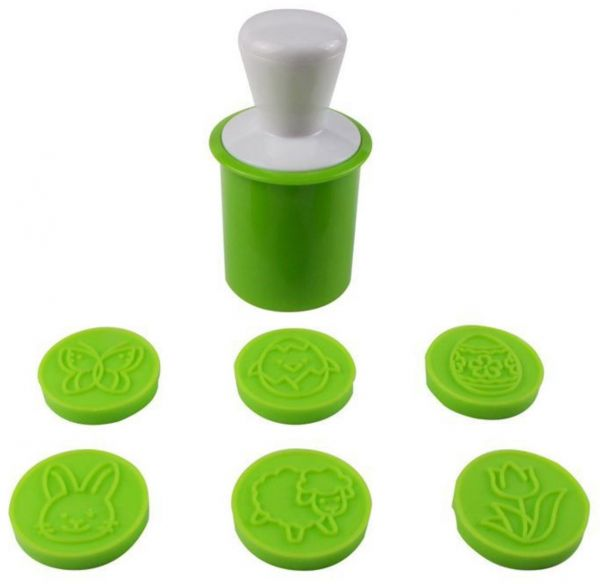 Silicone Cookie Cutters Set, Green