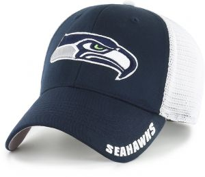 OTS NFL Seattle Seahawks Adult Hursh Center Stretch Fit Hat 942a8614331a