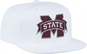 c905385fe6b471 adidas NCAA Mississippi State Bulldogs Men's ZNE Flat Brim Snapback Cap,  One Size, White