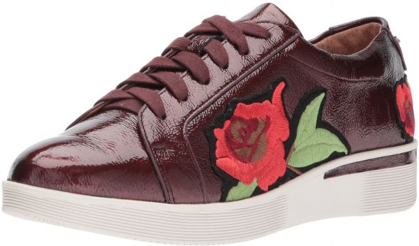 f82baea5a6f2 Gentle Souls by Kenneth Cole Women s Haddie Rose Low Wedge Sneaker Flower  Embroidery Shoe