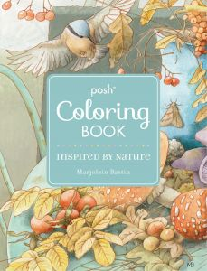 Posh Adult Coloring Book Inspired By Nature Books