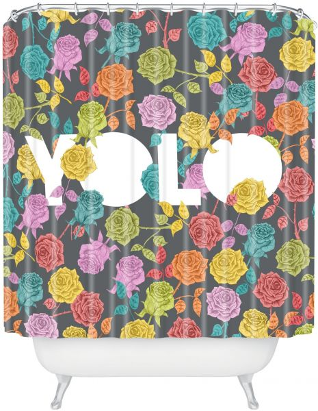 Deny Designs Bianca Green Yolo Shower Curtain 69 X 72