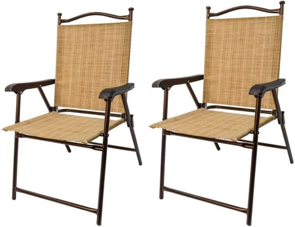 Greendale Home Fashion Outdoor Sling Back Chairs, Set Of 2