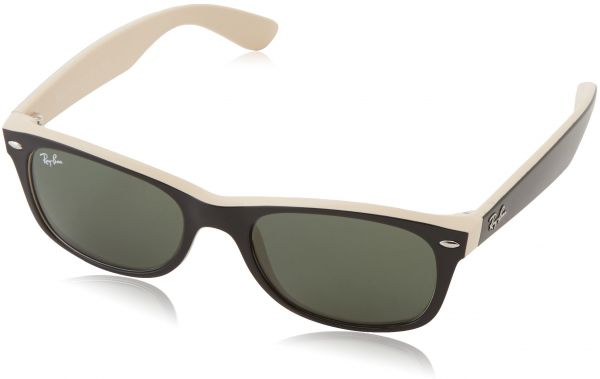 13ef5fa06c7 Ray-Ban NEW WAYFARER - TOP BLACK ON BEIGE Frame CRYSTAL GREEN Lenses 52mm  Non-Polarized