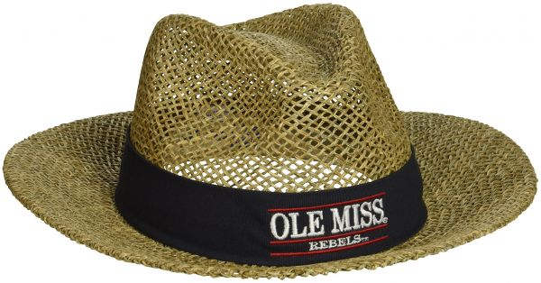 NCAA Mississippi Old Miss Rebels Straw Safari Hat 63577f58345