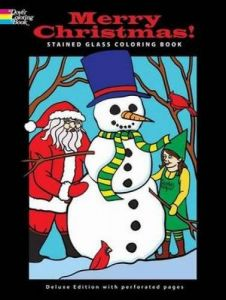 merry christmas stained glass coloring book holiday stained glass coloring book