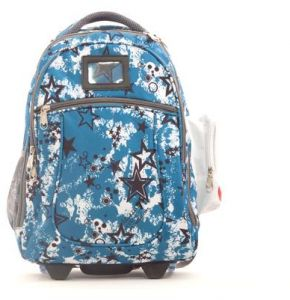 83830b40b842f School bag with wheels with a scraper