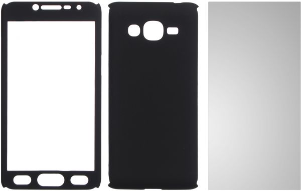 buy online e092b a660b Cover 360 With Screen Protector For Samsung Galaxy Grand Prime Plus, Black