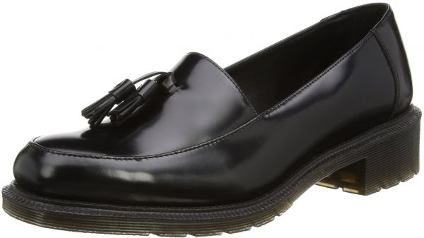 ecc8437adc6 Dr. Martens Women s Favilla Wax Polished Smooth Slip-on Loafer ...