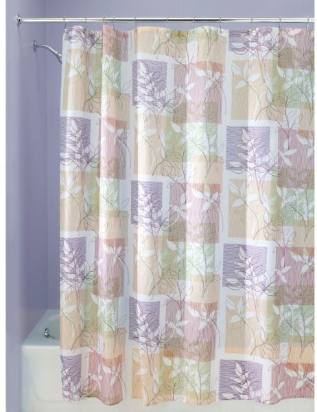 InterDesign Vivo Botanical Fabric Shower Curtain