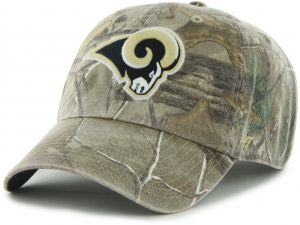 los angeles 6f822 80fab ... czech nfl st. louis rams 47 brand big buck clean up adjustable hat  realtree camouflage
