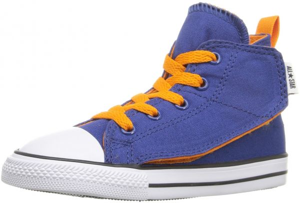 814ab43ce0f041 Converse Kids Baby Boy s Chuck Taylor All Star Simple Step Hi  (Infant Toddler) Roadtrip Blue Vivid Orange White 2 Infant M