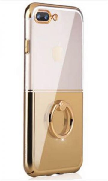 online store b19cb c1642 Xundd iPhone 7 Plus / iPhone 8 Plus Clear Cover Transparent Hard PC Case  with Ring Holder - Gold