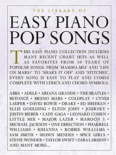 The Library Of Easy Piano Pop Songs Souq Uae