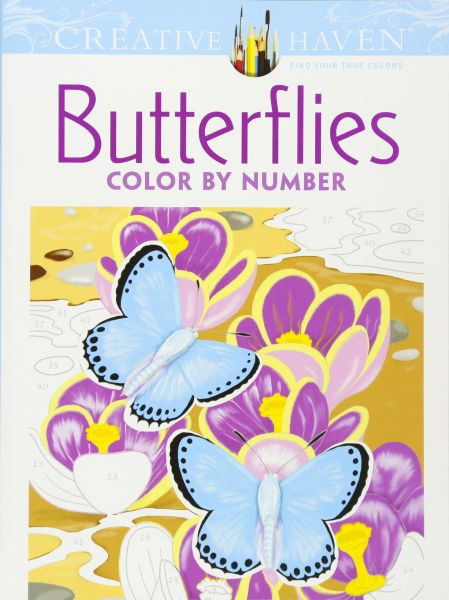 Creative Haven Butterflies Color by Number Coloring Book (Adult ...