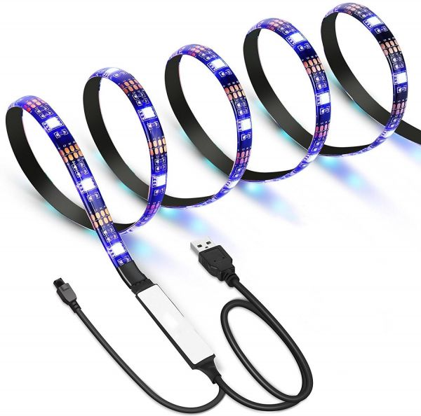 Home Theater Rope Lighting: Gluckluz 2M LED Light Strip Kit With Remote Control