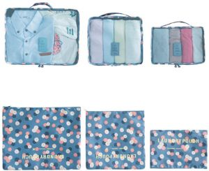 6 Set Travel Storage Bags Multi-functional Clothing Luggage Organizer and bags