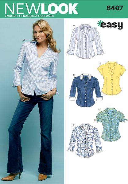 Souq | New Look Sewing Pattern 6407 Misses Tops, Size A (10-12-14-16 ...
