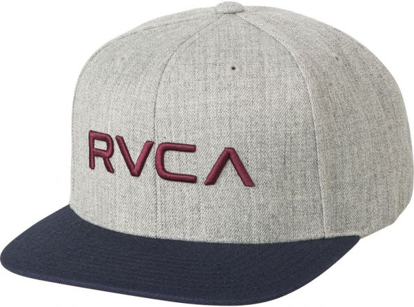 hot sale online b0f79 43f1f ... inexpensive rvca mens twill snapback hat heather grey blue ea 353e8  0043c