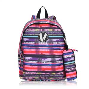 Veegul Cute School Backpack Small Printed Backpack with Pencil Case for Kids  Fushcia ca1d9ba7a3ff0