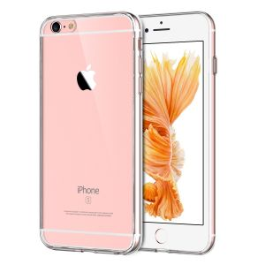 JETech Case for Apple iPhone 6s Plus and iPhone 6 Plus, Shock-Absorption Bumper Cover, Anti-Scratch Clear Back, HD Clear