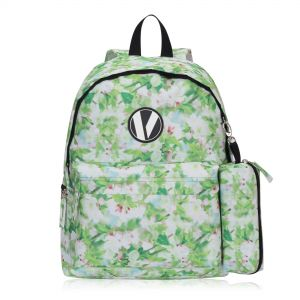 348022c02759 Veegul Cute School Backpack Small Printed Backpack with Pencil Case for Kids  Light Green