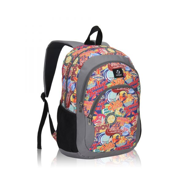 d66325b9db Veegul Cool Backpack Kids Sturdy Schoolbags Back to School Backpack for  Boys Girls Orange