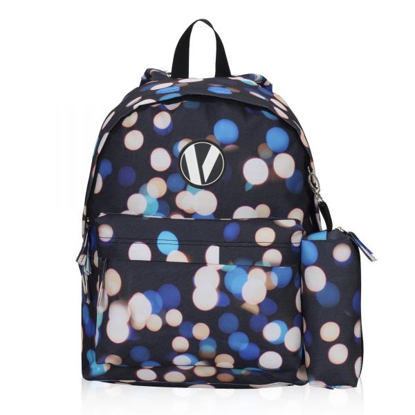 119fc16ab110 Veegul Cute School Backpack Small Printed Backpack with Pencil Case for Kids  Polka Dot