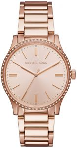 b3a3a58355a Michael Kors Women s Rose Gold Tone Dial Stainless Steel Band Watch - MK3809