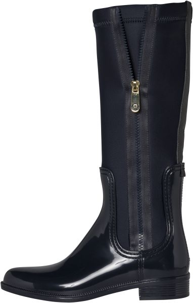 2ee9e6bde0a44 Tommy Hilfiger 1285 Odette 13R Rain Boots for Women - Midnight ...