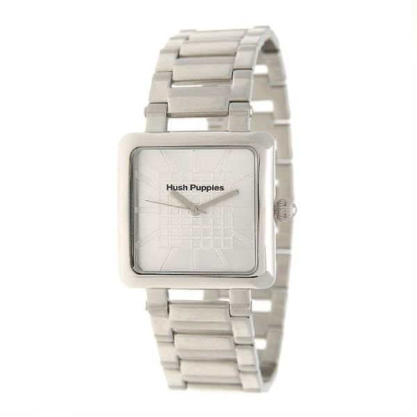 Hush Puppies Analog Watch Stainless Steel For Women, Silver