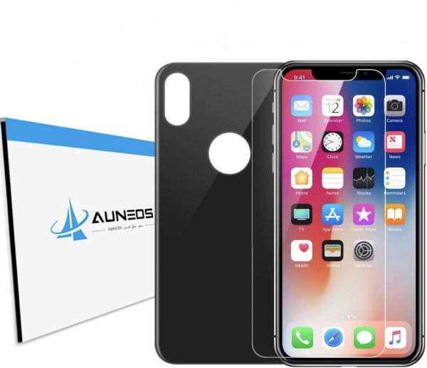 sports shoes c4c9b 66dad AUNEOS iPhone X Screen Protector Back and Front with Back Camera Lens  Protective Cover [3 Pack] iPhone X Lens Screen Protector (Black)