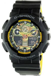 Casio G-Shock Men's Multi Color Dial Resin Band Watch - GA100BY-1A