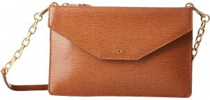 bfc59789734 Lauren Ralph Lauren Newbury Erika Small Crossbody Bag for Women, Leather -  Tan