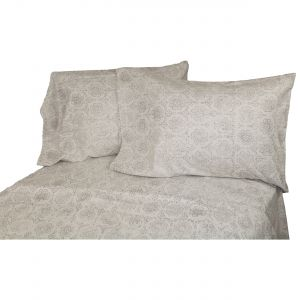 La Rochelle Heathered Abstract Flannel Sheet Set, California King, Blue  Queen Grey 10755 3308c70a82