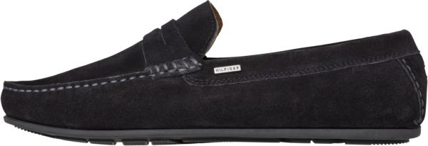 2457a9c6d Tommy Hilfiger Classic Suede Penny Loafers for Men - Black